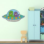 Adesivo Murale bambino nave spaziale