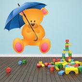 Adesivo Murale bambino orsetto