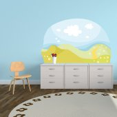 Adesivo Murale bambino paesaggio