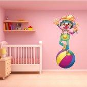 Adesivo Murale bambino pagliaccio