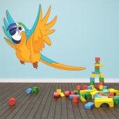 Adesivo Murale bambino pappagallo