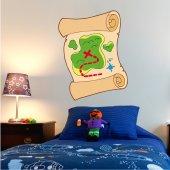 Adesivo Murale bambino pergamena