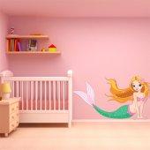 Adesivo Murale bambino sirena