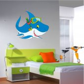 Adesivo Murale bambino squalo