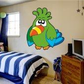 Adesivo Murale bambino uccello caraibi