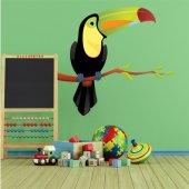 Adesivo Murale bambino uccello ramo