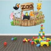 Adesivo Murale bambino zoo