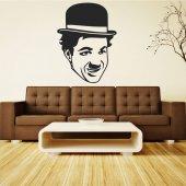 Adesivo Murale charlie chaplin