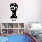 Adesivo Murale Coppa del Mondo Brésil 2014