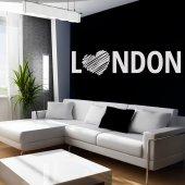 Adesivo Murale cuore Londra