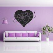 Adesivo Murale cuore love