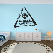 Adesivo Murale danger sounds