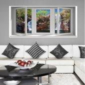 Adesivo Murale finestra ''trompe l'oeil''