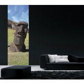 Adesivo Murale Moai