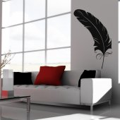 Adesivo Murale piuma