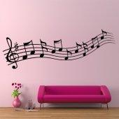 Adesivo Murale rigo musicale