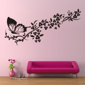 Adesivo Murale striscia farfalle