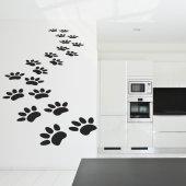 Adesivo Murale tracce di gatto