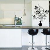 Adesivo Murale vaso fiore