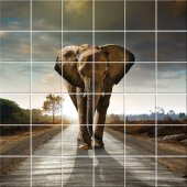 Adesivo per piastrelle elefante