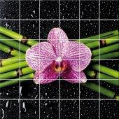 Adesivo per piastrelle fiore