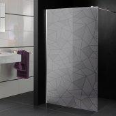 Adesivo sabbiato per box doccia mosaico design