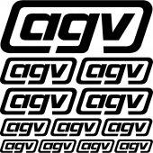 Agv Aufkleber-Set