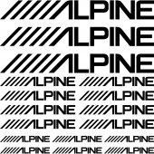 Alpine Aufkleber-Set