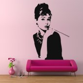 Audrey Hepburn Wall Stickers