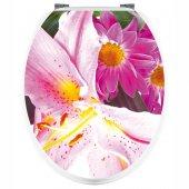 Aufkleber für Toilettendeckel Blumen
