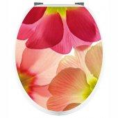 Aufkleber für Toilettendeckel Blütenblätter