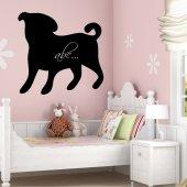 Autocolante ardósia cão