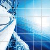 Autocolante Azulejo mar