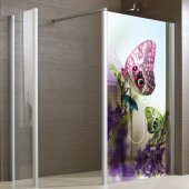 Autocolante cabine de duche Borboletas
