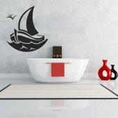 Autocolante decorativo barco