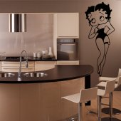 Autocolante decorativo Betty Boop