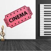 Autocolante decorativo bilhete de cinema