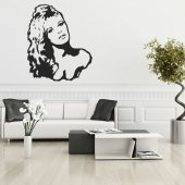 Autocolante decorativo Brigitte bardot