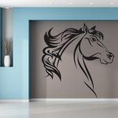 Autocolante decorativo cabeça de de cavalos