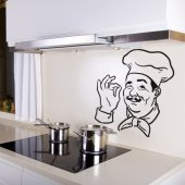 Autocolante decorativo Chef