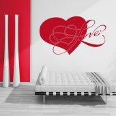 Autocolante decorativo coração love