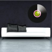 Autocolante decorativo disco ano 70