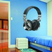 Autocolante decorativo fones de ouvido