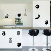 Autocolante decorativo frutas