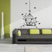 Autocolante decorativo gaiola