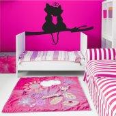 Autocolante decorativo gatos