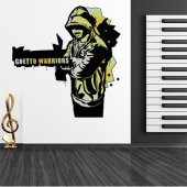 Autocolante decorativo ghetto warriors