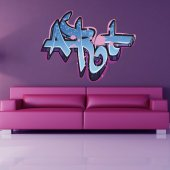 Autocolante decorativo graffiti arte