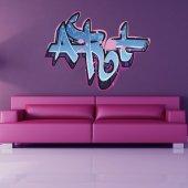 Autocolante decorativo graffiti arte