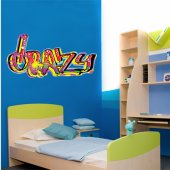 Autocolante decorativo graffiti crazy